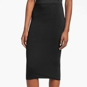 Leith black tube pencil skirt